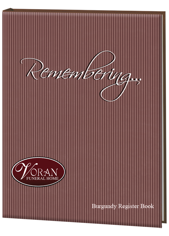 Burgundy Register Book