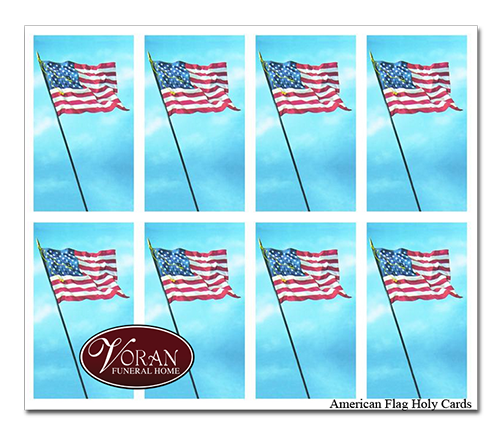 American Flag Holy Card