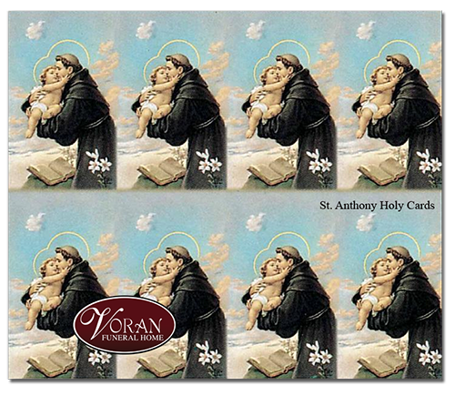 Saint Anthony Holy Card
