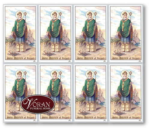 Saint Patrick Holy Card