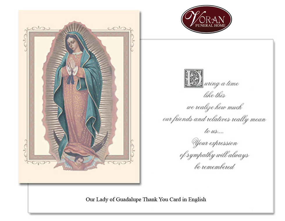 Our Lady of Guadalupe English Thank You