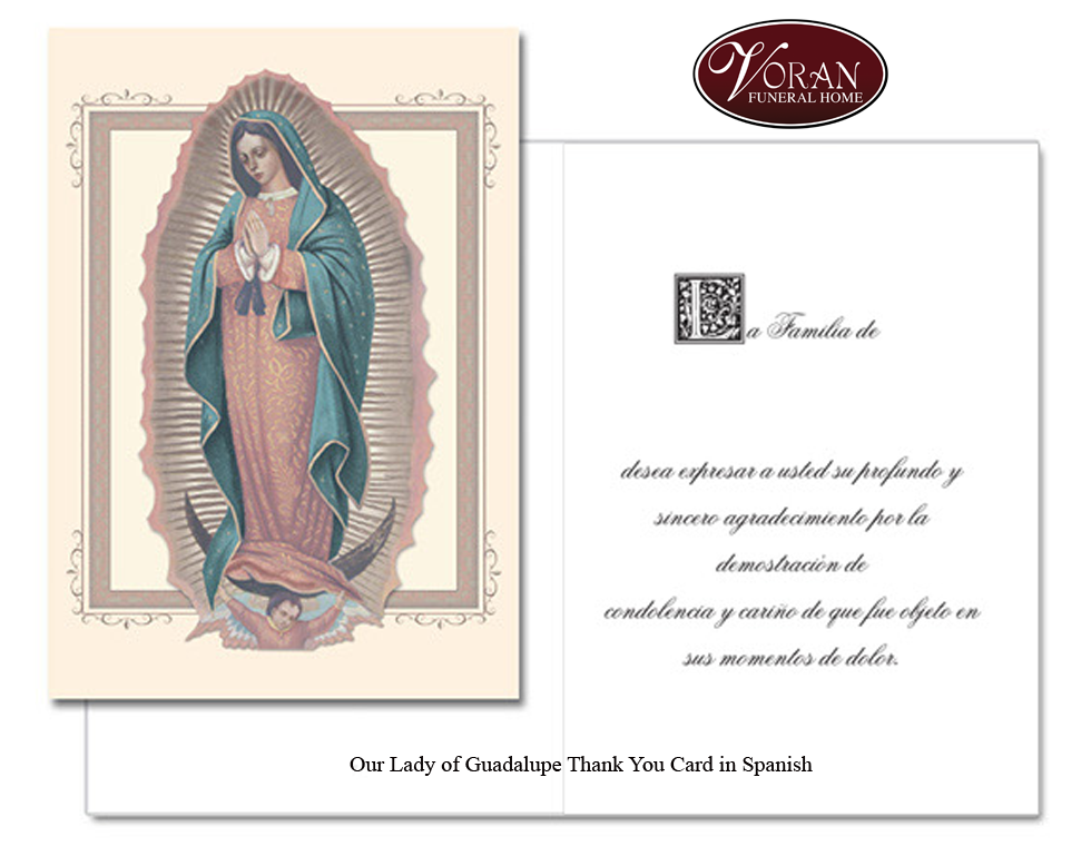 Our Lady of Guadalupe Spanish Thank You